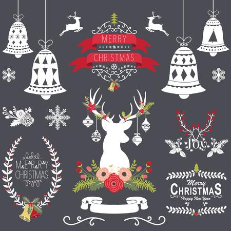 Christmas Collection Bord Stock Illustratie