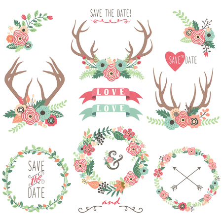 Wedding Floral Antlers