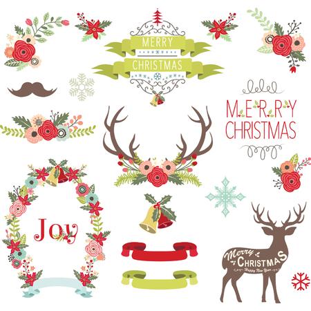 christmas tree illustration: Christmas Design Collection