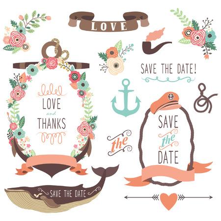wedding  art: Nautical Sea Wedding Collections