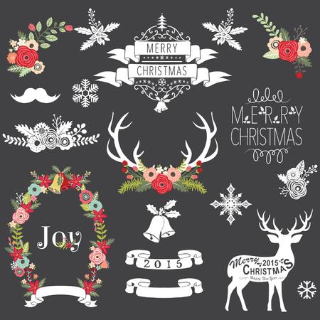 pudding: Christmas Chalkboard Illustration