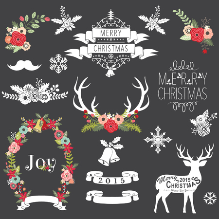 Christmas Chalkboard Illustration