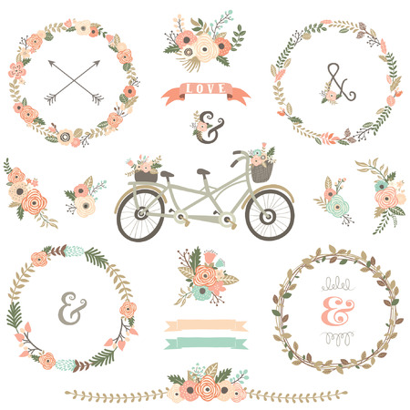 floral vintage: Vintage Floral Bicycles