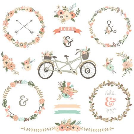 Biciclette floreale dell'annata