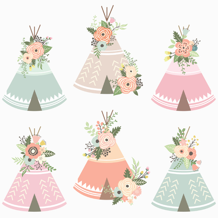 Floral Teepee Elements