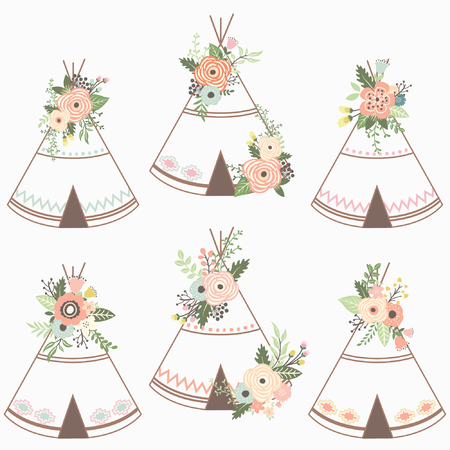 Floral teepee collection