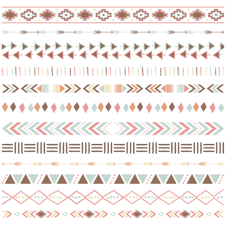 Tribal Ribbon Borders Collections. Illustration