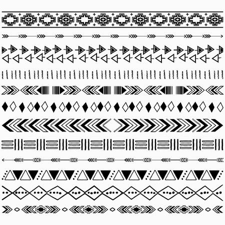 Digital Aztec Borders Elements