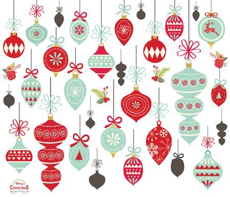 Collections d'ornement de Noël vector illustration Banque d'images - 90153776