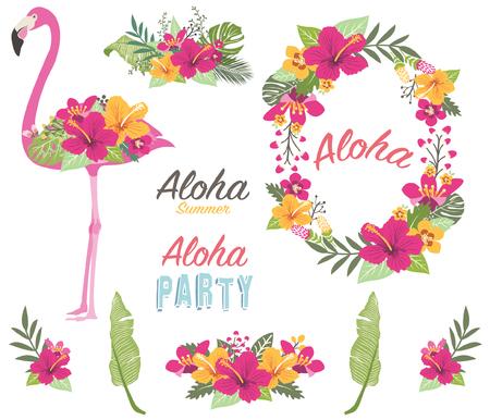 Aloha Flower Flamingo Collections