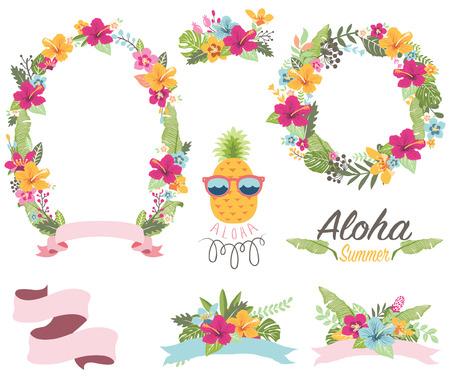 Tropical Floral Wreath