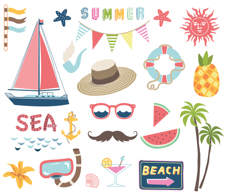 Nautical Summer Collections Stock Illustratie
