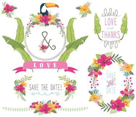 Aloha Wedding Floral Collections Illustration
