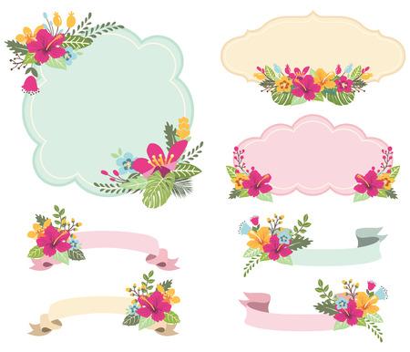 Aloha Floral Frames Set