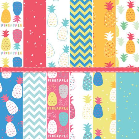 Pineapple Digital Paper Elements