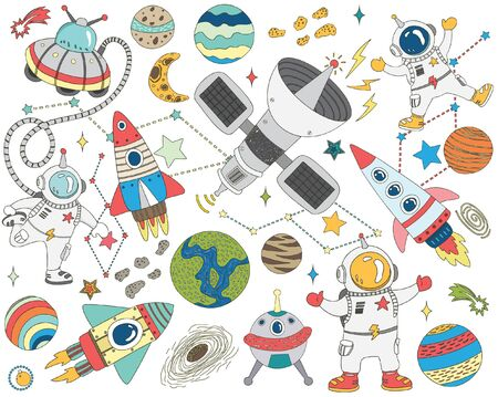 Doodle Outer Space Collections Set