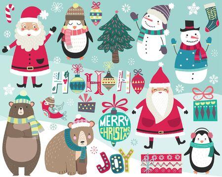 Cute Christmas Digital Art Collections Set 일러스트