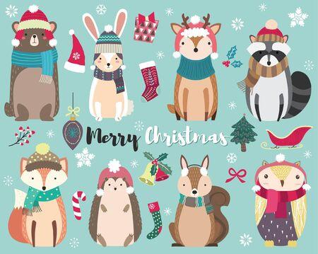 Christmas Cute Animal Collections Set