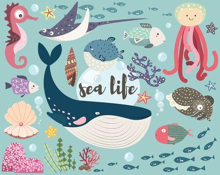 Cute Sea Life Collection Set