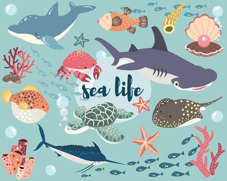 Sea Life Animal Collection Set