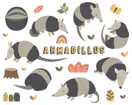 Cute Little Armadillos Collections Set II 일러스트