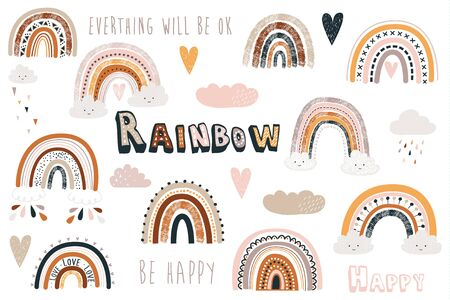 Cute Boho Rainbow Collection Set