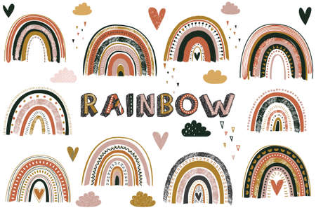 Cute Colorful Rainbow Collection Set