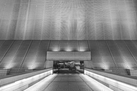 comtemporary: Entrance of modern architecture Stock Photo