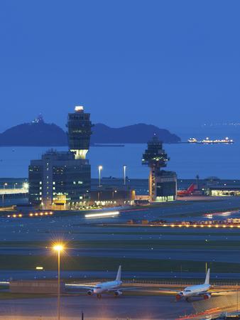 traffic controller: Hong Kong International Airport Stock Photo