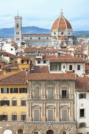church steeple: Skyline of historical city Florence, Italy