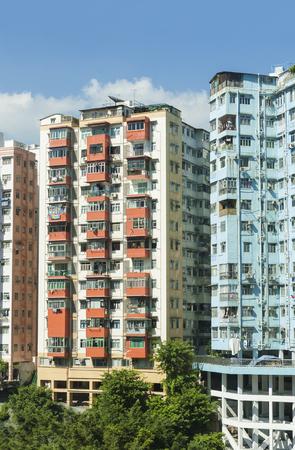 Residential building in Hong Kong city Reklamní fotografie