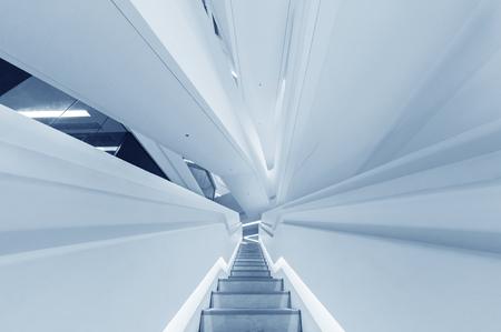 futuristic stairway