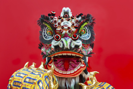 Lion Dance Costume tijdens Chinees Nieuwjaar