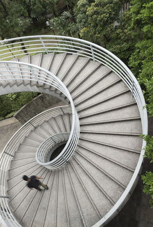Spiral staircase,viewed from top