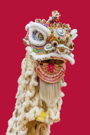 Lion Dance Costume used during Chinese New Year Imagens - 92781955