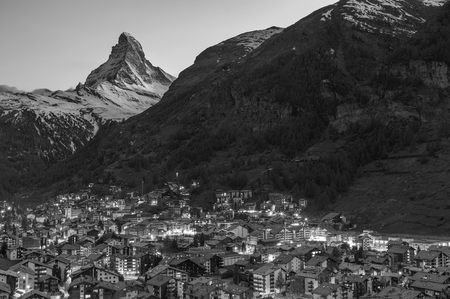 Mountain Matterhorn in Zermatt, Switzerland 写真素材
