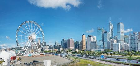 Skyline of Hong Kong city Redactioneel