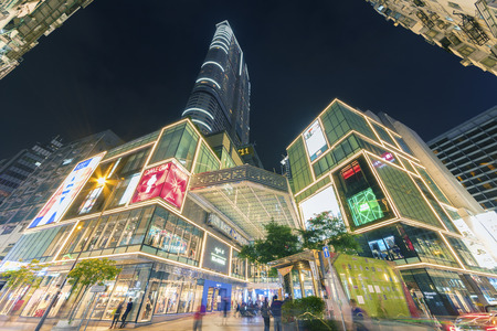 Hong Kong, China - December 14, 2016 : Shopping mall K-11 in Tsim Sha Tsui district. Tsim Sha Tsui is a major tourist hub in metropolitan Hong Kong, with many high-end shops and restaurants that cater to tourist.