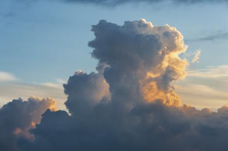 Dramatic cloudscape at sunrise