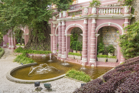 Classic Portuguese garden in Macau, China