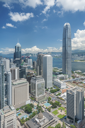 Aerial View of Hong Kong City 版權商用圖片 - 109172802