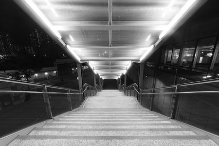 Stairway of modern pedistrican walkway