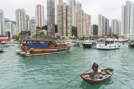 Aberdeen, Fishing Village Hong Kong Standard-Bild - 115501078