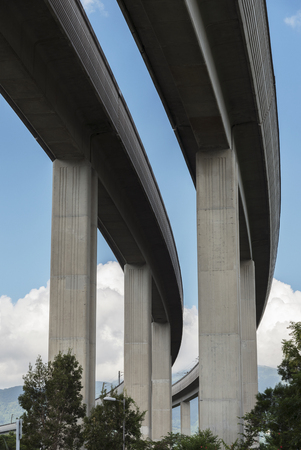 Underside of an elevated road