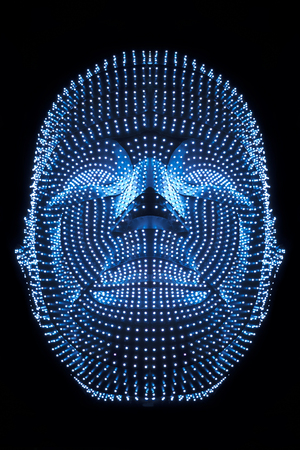illuminated gots connected to thinkers, symbolizing the meaning of artificial intelligence