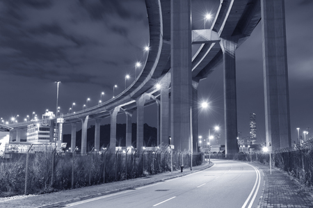 elevated highway at night