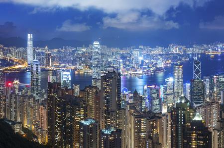 Victoria Harbor of Hong Kong Imagens