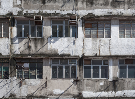 Abandoned residential building in Hong Kong city