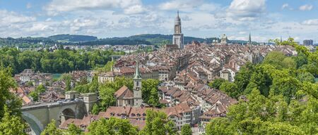 Panorama view of historical city Bern of Swiss Banque d'images