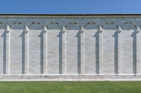 Classical old wall in historiical city Pisa, Tuscany, Italy